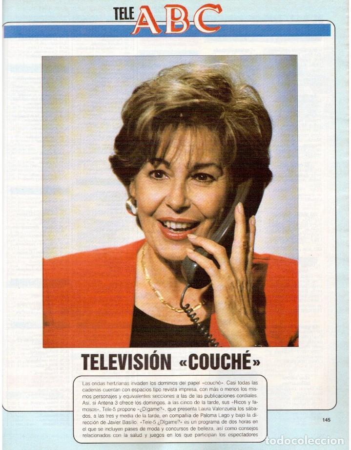 Coleccionismo de Revista Blanco y Negro: 1990. JUDIT MASCÓ. PACO DE LUCÍA. MÓNICA MOLINA. LAURA VALENZUELA. ROSA BERNAL. VER SUMARIO. - Foto 11 - 142507658