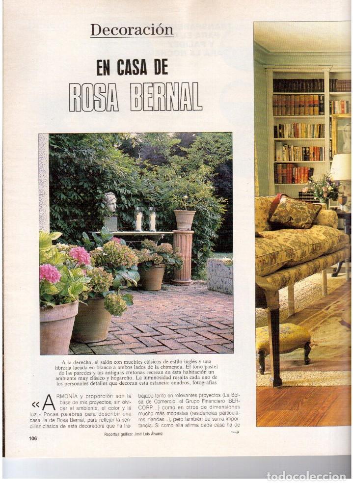 Coleccionismo de Revista Blanco y Negro: 1990. JUDIT MASCÓ. PACO DE LUCÍA. MÓNICA MOLINA. LAURA VALENZUELA. ROSA BERNAL. VER SUMARIO. - Foto 12 - 142507658
