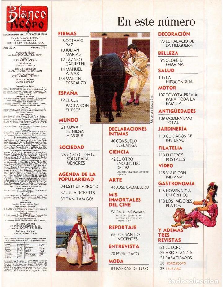 Coleccionismo de Revista Blanco y Negro: 1990. ESTHER ARROYO. JULIA ROBERTS. TAM TAM GO !. CONSUELO BERLANGA. MABEL LOZANO. PEPA FLORES. VER - Foto 2 - 142921486