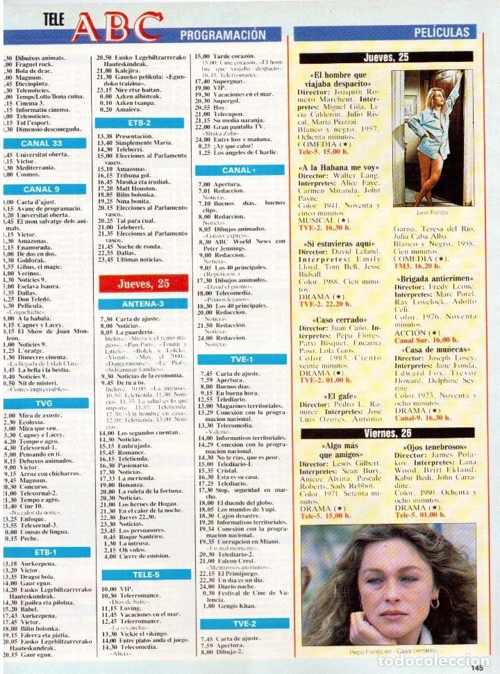 Coleccionismo de Revista Blanco y Negro: 1990. ESTHER ARROYO. JULIA ROBERTS. TAM TAM GO !. CONSUELO BERLANGA. MABEL LOZANO. PEPA FLORES. VER - Foto 9 - 142921486