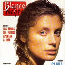 Coleccionismo de Revista Blanco y Negro: 1990. MIGUEL BOSÉ. ALASKA. CARLOS CARDÚS. CRISTINA HUERTA. RADIO FUTURA. PALOMA SAN BASILIO. VER. . Lote 156105854