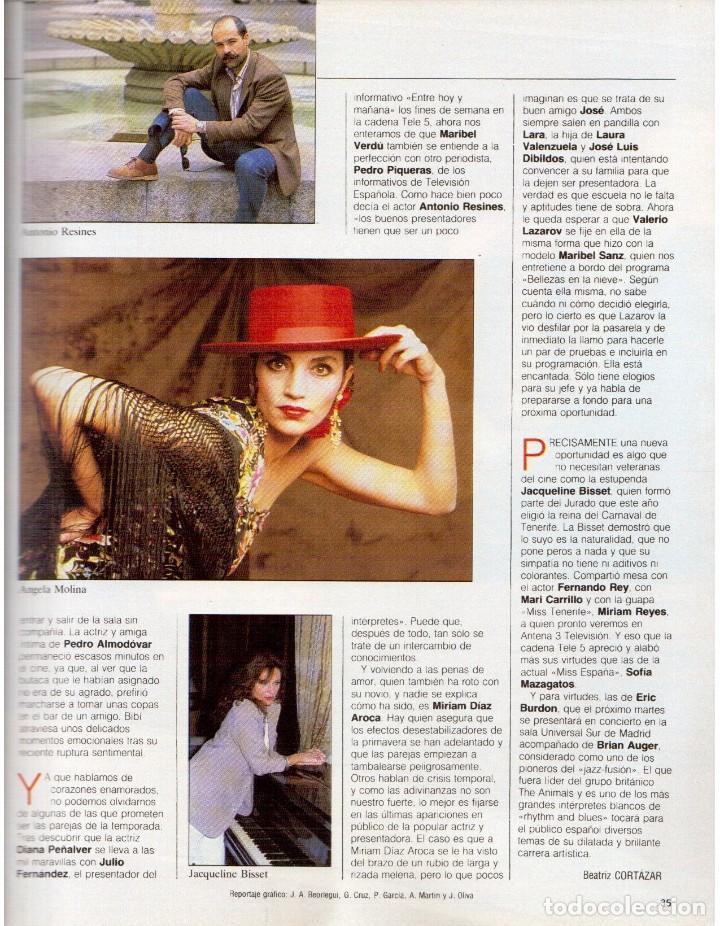 Coleccionismo de Revista Blanco y Negro: 1992. XUXA. ANGELA MOLINA. CRISTINA HIGUERAS. CRISTINA ROSENVINGE. SARA MONTIEL. VER SUMARIO. - Foto 4 - 191149530