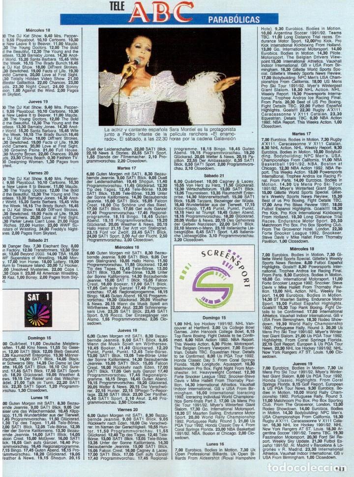 Coleccionismo de Revista Blanco y Negro: 1992. XUXA. ANGELA MOLINA. CRISTINA HIGUERAS. CRISTINA ROSENVINGE. SARA MONTIEL. VER SUMARIO. - Foto 13 - 191149530