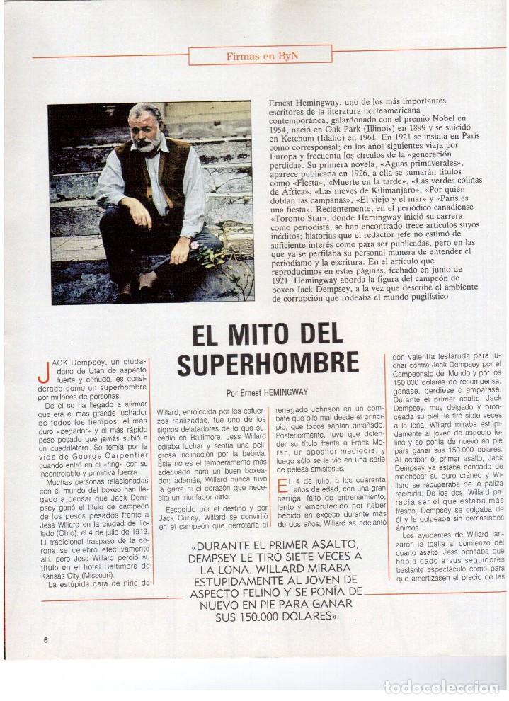 Coleccionismo de Revista Blanco y Negro: 1992. MIKE TYSON. LADY SARAH. MIRIAM REYES. MARTA SÁNCHEZ. CLAUDIO RÓDRIGUEZ. VER SUMARIO. - Foto 3 - 143701838