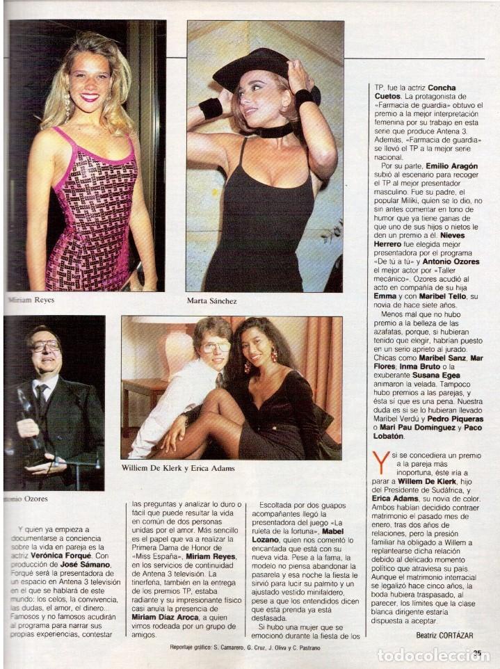 Coleccionismo de Revista Blanco y Negro: 1992. MIKE TYSON. LADY SARAH. MIRIAM REYES. MARTA SÁNCHEZ. CLAUDIO RÓDRIGUEZ. VER SUMARIO. - Foto 5 - 143701838