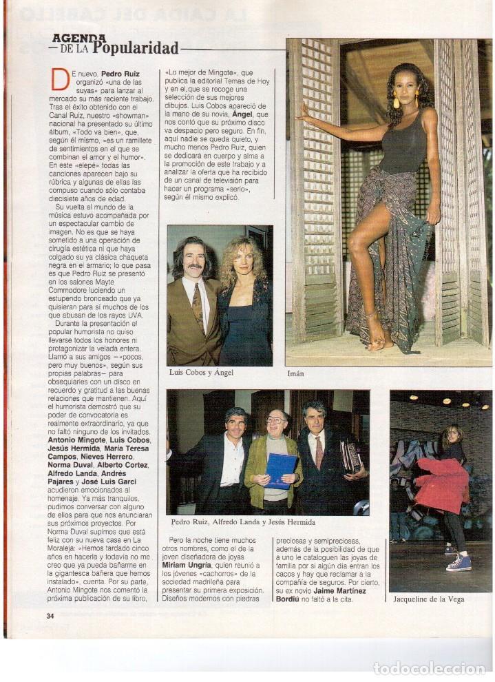 Coleccionismo de Revista Blanco y Negro: 1992. IMÁN. ESTEFANÍA LUIK. ANJELICA HUSTON. JOHN PINONE Y JORDI VILLACAMPA. CAMEL TROPHY. CANNELLE - Foto 3 - 143872934