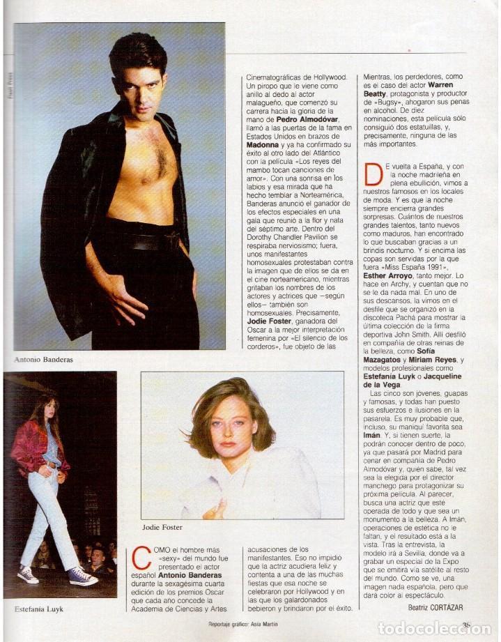 Coleccionismo de Revista Blanco y Negro: 1992. IMÁN. ESTEFANÍA LUIK. ANJELICA HUSTON. JOHN PINONE Y JORDI VILLACAMPA. CAMEL TROPHY. CANNELLE - Foto 4 - 143872934