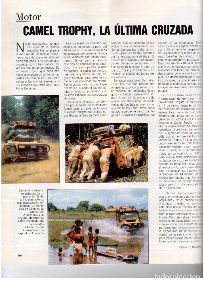 Coleccionismo de Revista Blanco y Negro: 1992. IMÁN. ESTEFANÍA LUIK. ANJELICA HUSTON. JOHN PINONE Y JORDI VILLACAMPA. CAMEL TROPHY. CANNELLE - Foto 13 - 143872934