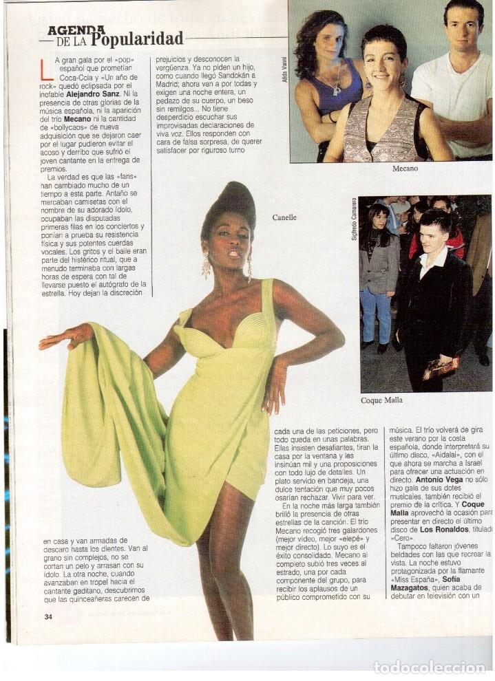 Coleccionismo de Revista Blanco y Negro: 1992. ALEJANDRO SANZ. mecano. coque malla. canelle. MARK KNOPFLER. RICCARDO PATRESE. ISABEL PANTOJA. - Foto 3 - 143879394