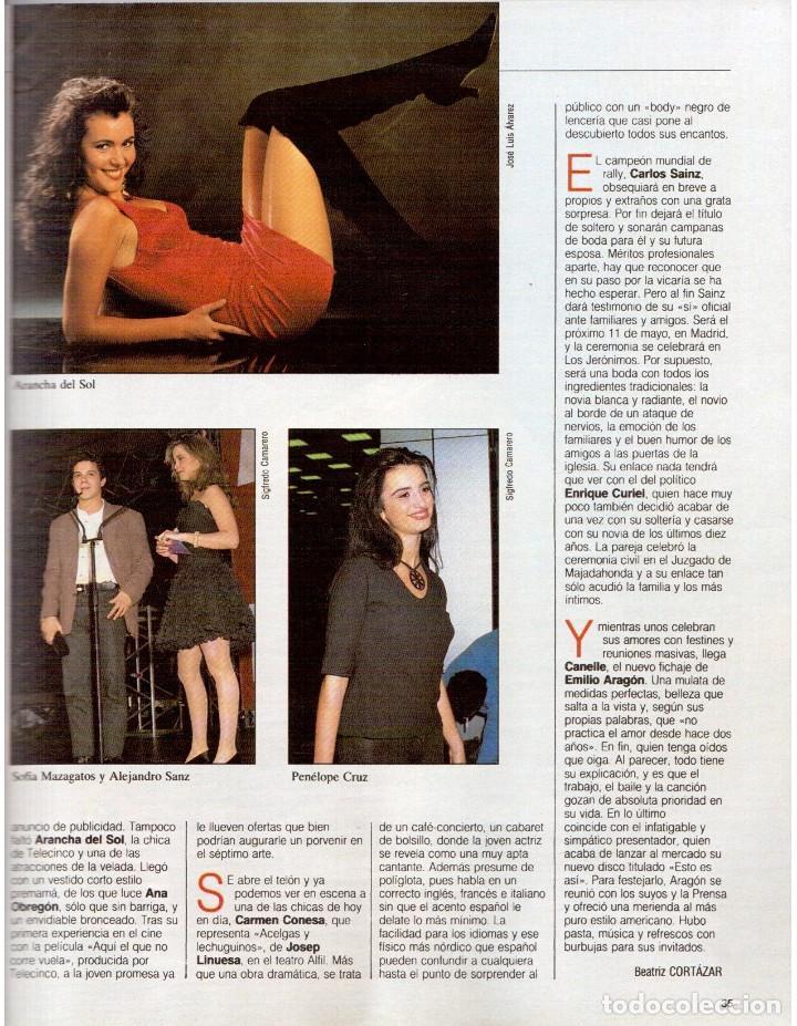 Coleccionismo de Revista Blanco y Negro: 1992. ALEJANDRO SANZ. mecano. coque malla. canelle. MARK KNOPFLER. RICCARDO PATRESE. ISABEL PANTOJA. - Foto 4 - 143879394