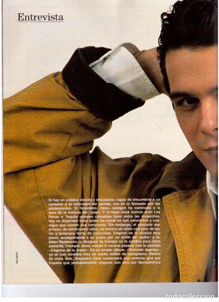 Coleccionismo de Revista Blanco y Negro: 1992. ALEJANDRO SANZ. mecano. coque malla. canelle. MARK KNOPFLER. RICCARDO PATRESE. ISABEL PANTOJA. - Foto 10 - 143879394