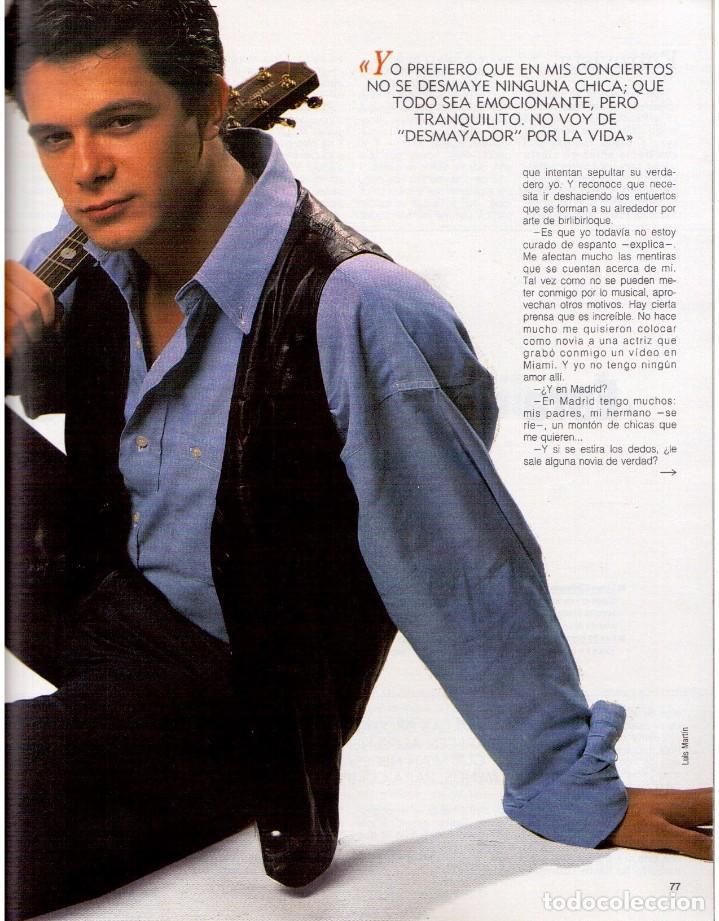 Coleccionismo de Revista Blanco y Negro: 1992. ALEJANDRO SANZ. mecano. coque malla. canelle. MARK KNOPFLER. RICCARDO PATRESE. ISABEL PANTOJA. - Foto 12 - 143879394