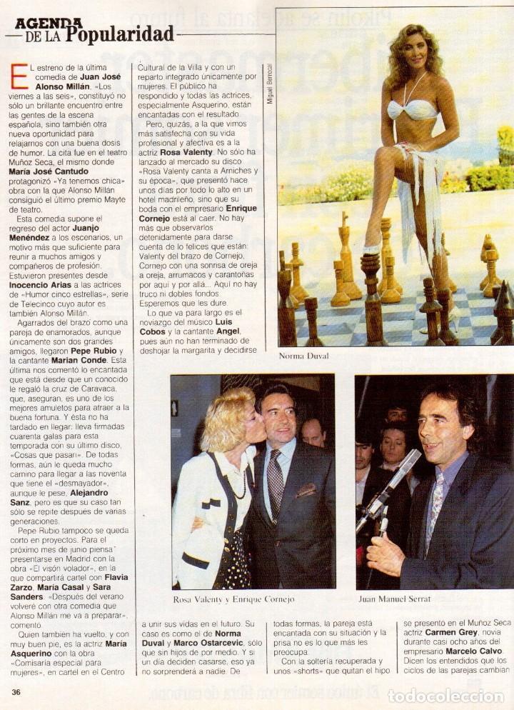 Coleccionismo de Revista Blanco y Negro: 1992. RAFAEL MONEO. JUAN MANUEL SERRAT. CINDY CRAWFORD. AMERICAN PSYCHO. MARTA SÁNCHEZ. GILDA. VER - Foto 9 - 143881842