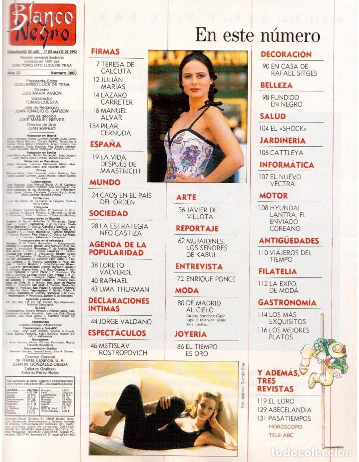 Coleccionismo de Revista Blanco y Negro: 1992. GABINETE CALIGARI. BORJA CASANI. GARCÍA-ALIX. CEESEPE. ANA OBREGÓN. BEATRICE DAILE. VER - Foto 2 - 143882946