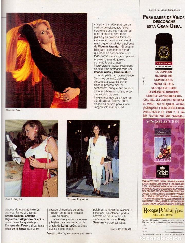 Coleccionismo de Revista Blanco y Negro: 1992. GABINETE CALIGARI. BORJA CASANI. GARCÍA-ALIX. CEESEPE. ANA OBREGÓN. BEATRICE DAILE. VER - Foto 6 - 143882946