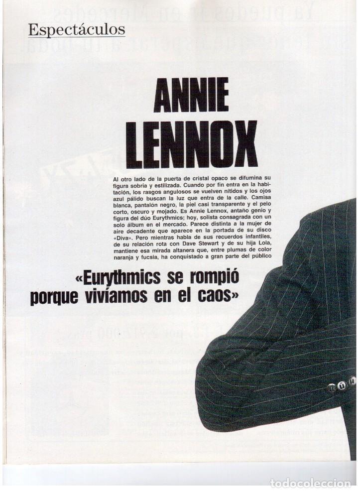 Coleccionismo de Revista Blanco y Negro: 1992. ISABEL PANTOJA. MECANO. CELIA FORNER. RAFFAELLA CARRÁ. PALOMA SAN BASILIO. ANNIE LENOX. VER - Foto 7 - 143885170