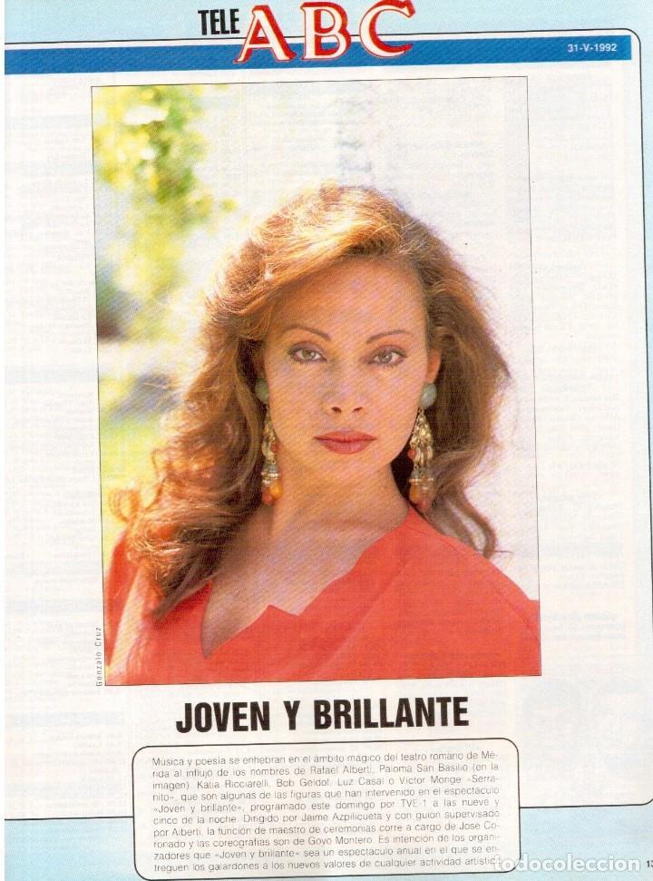 Coleccionismo de Revista Blanco y Negro: 1992. ISABEL PANTOJA. MECANO. CELIA FORNER. RAFFAELLA CARRÁ. PALOMA SAN BASILIO. ANNIE LENOX. VER - Foto 11 - 143885170