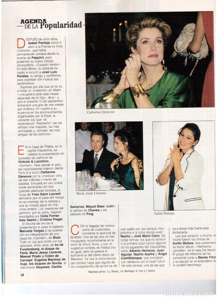 Coleccionismo de Revista Blanco y Negro: 1992. ISABEL PANTOJA. INÉS SASTRE. ROCÍO JURADO. ROSARIO FLORES. MARIELA ALCALÁ. VER SUMARIO. - Foto 3 - 143897094