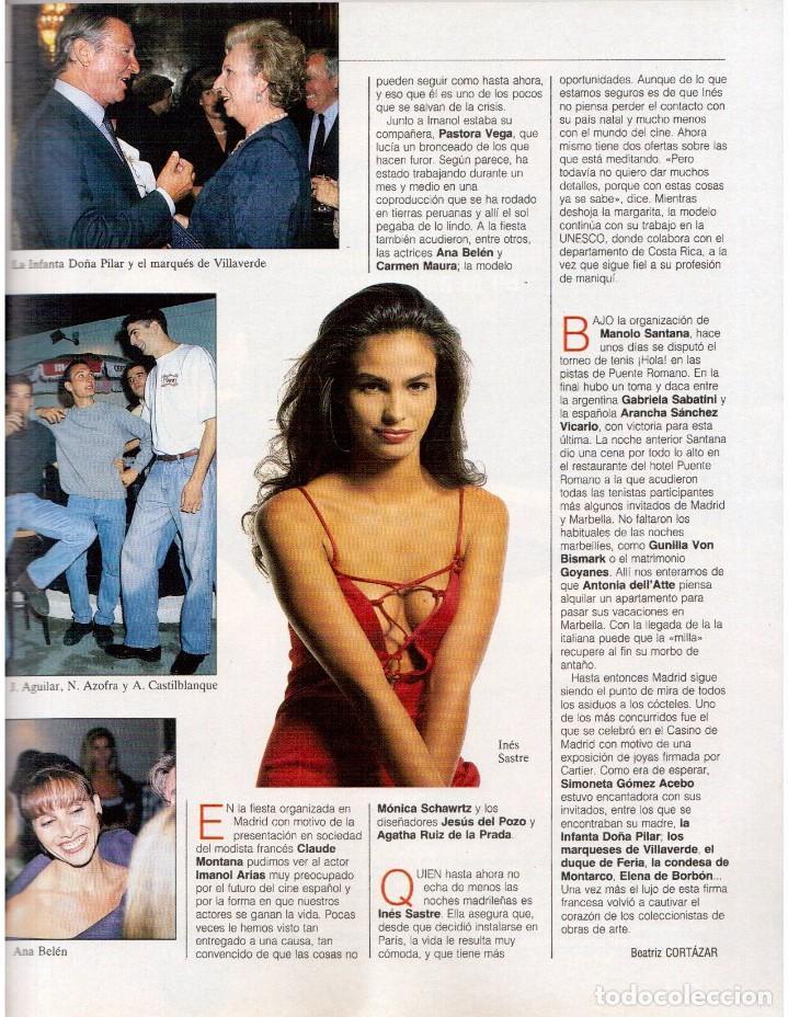 Coleccionismo de Revista Blanco y Negro: 1992. ISABEL PANTOJA. INÉS SASTRE. ROCÍO JURADO. ROSARIO FLORES. MARIELA ALCALÁ. VER SUMARIO. - Foto 4 - 143897094