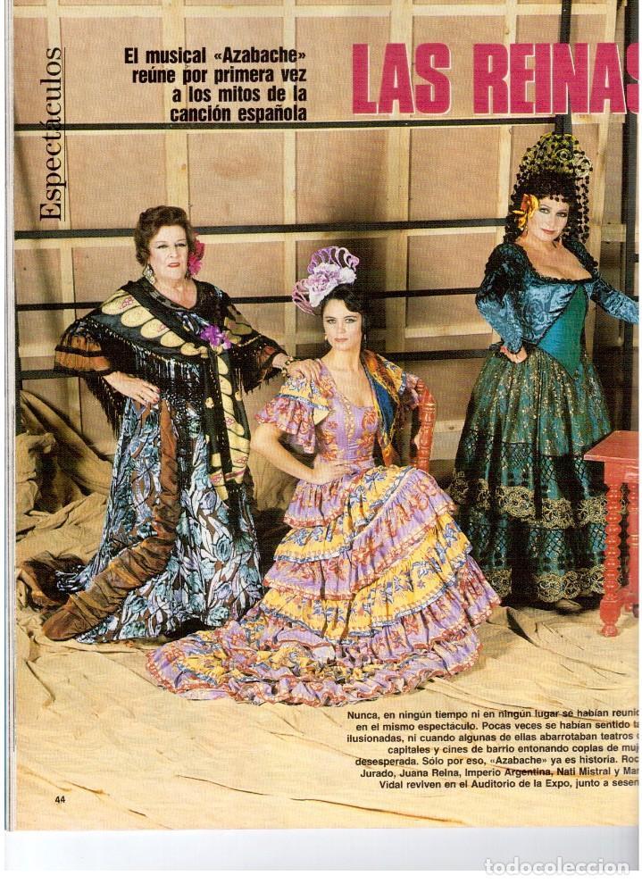 Coleccionismo de Revista Blanco y Negro: 1992. ISABEL PANTOJA. INÉS SASTRE. ROCÍO JURADO. ROSARIO FLORES. MARIELA ALCALÁ. VER SUMARIO. - Foto 5 - 143897094