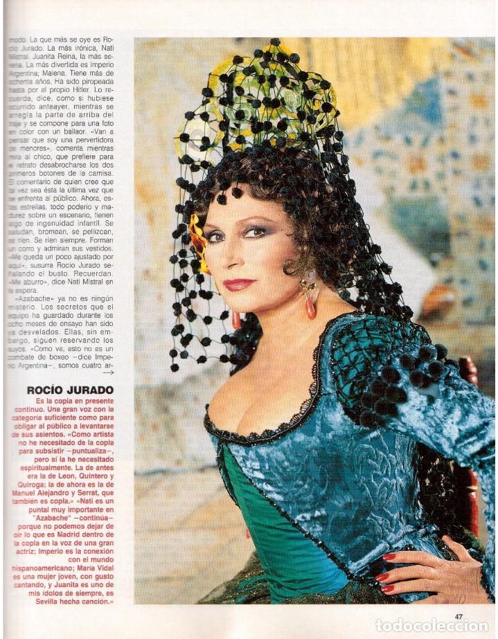 Coleccionismo de Revista Blanco y Negro: 1992. ISABEL PANTOJA. INÉS SASTRE. ROCÍO JURADO. ROSARIO FLORES. MARIELA ALCALÁ. VER SUMARIO. - Foto 7 - 143897094