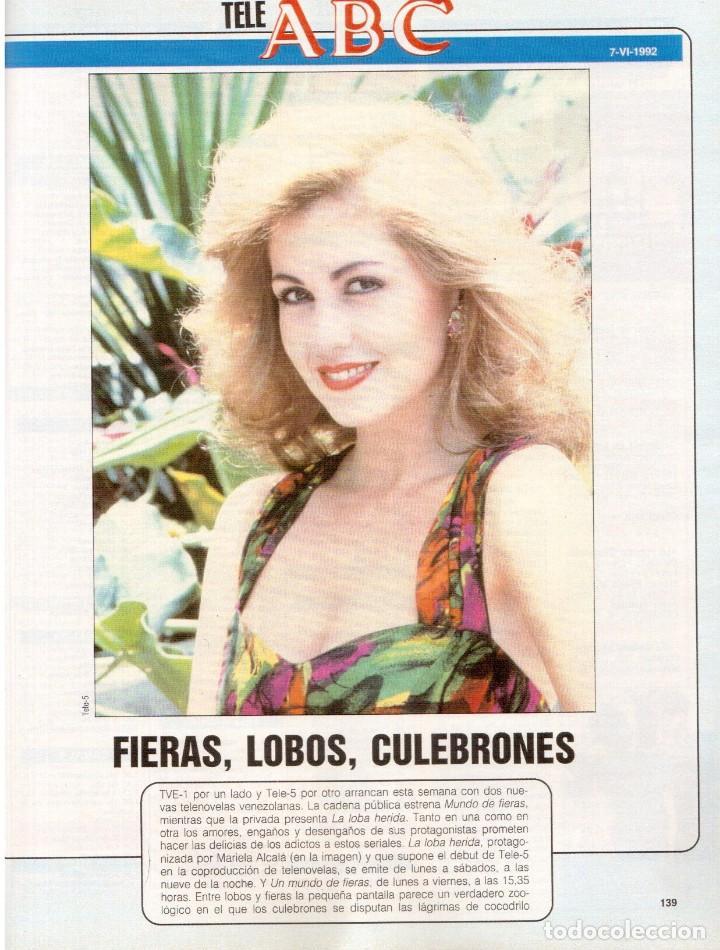 Coleccionismo de Revista Blanco y Negro: 1992. ISABEL PANTOJA. INÉS SASTRE. ROCÍO JURADO. ROSARIO FLORES. MARIELA ALCALÁ. VER SUMARIO. - Foto 9 - 143897094