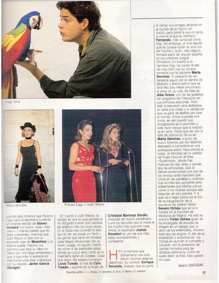 Coleccionismo de Revista Blanco y Negro: 1992. GUNS NROSES. MARTA SÁNCHEZ. JUDIT MASCÓ. BELÉN RUEDA. LYDIA BOSCH. VER SUMARIO. - Foto 3 - 143970430