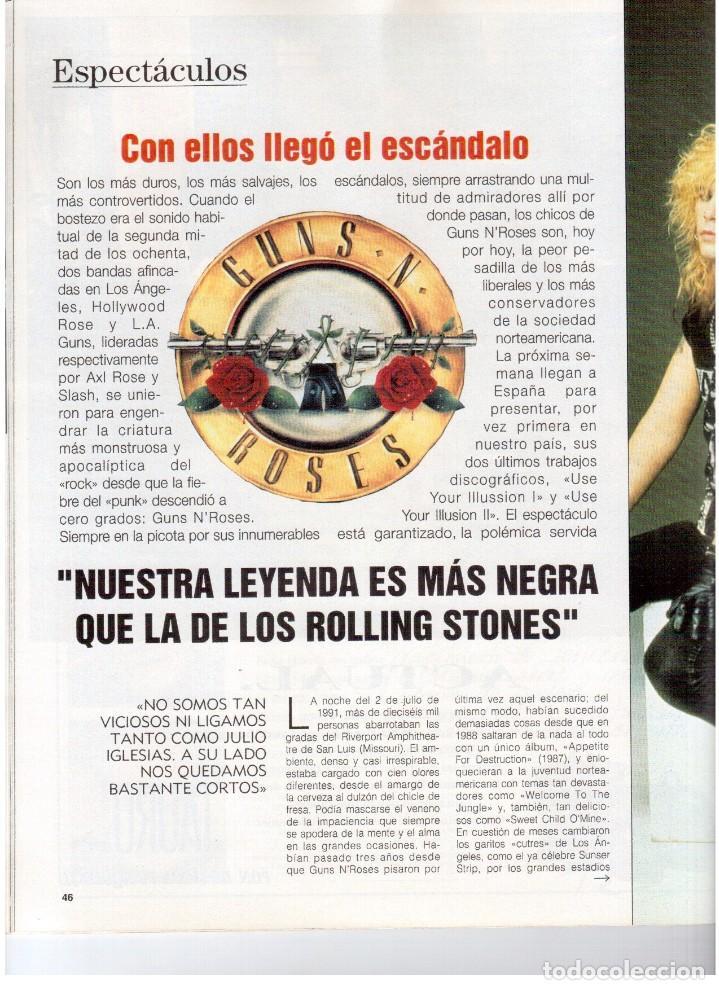 Coleccionismo de Revista Blanco y Negro: 1992. GUNS NROSES. MARTA SÁNCHEZ. JUDIT MASCÓ. BELÉN RUEDA. LYDIA BOSCH. VER SUMARIO. - Foto 5 - 143970430