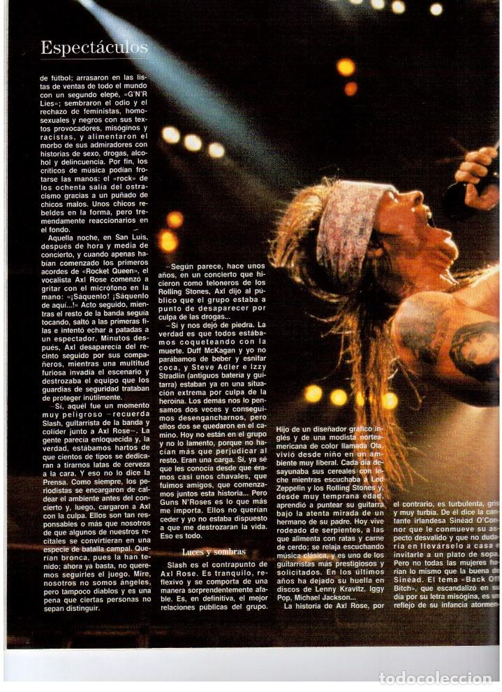 Coleccionismo de Revista Blanco y Negro: 1992. GUNS NROSES. MARTA SÁNCHEZ. JUDIT MASCÓ. BELÉN RUEDA. LYDIA BOSCH. VER SUMARIO. - Foto 7 - 143970430