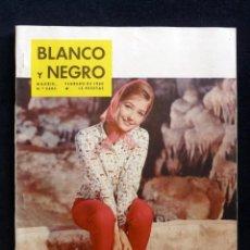 Coleccionismo de Revista Blanco y Negro: REVISTA BLANCO Y NEGRO. Nº 2495, 1960. CRISTINA KAUFMANN, NUEVAS MONEDAS 10 CTS., VENTA DE LOS GATOS. Lote 144128722
