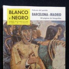 Coleccionismo de Revista Blanco y Negro: REVISTA BLANCO Y NEGRO. Nº 2504, 1960. PELICULA PARTIDO BARCELONA-MADRID, HUELVA MARINERA. Lote 144129206