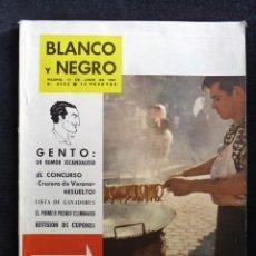 Coleccionismo de Revista Blanco y Negro: REVISTA BLANCO Y NEGRO. Nº 2563, 1961. MADRID-BERBENA DE SAN ANTONIO, GENTO UN RUMOR ESCANDALOSO. Lote 144132146