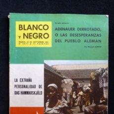 Coleccionismo de Revista Blanco y Negro: REVISTA BLANCO Y NEGRO. Nº 2577, 1961. PALMA DE MALLORCA. NOVIAZGO JUAN CARLOS-SOFIA. Lote 144132978
