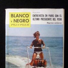 Coleccionismo de Revista Blanco y Negro: REVISTA BLANCO Y NEGRO. Nº 2624, 1962. ENTREVISTA EN PARIS CON EL ÚLTIMO PRESIDENTE DE PERU. COSTA D. Lote 144135562