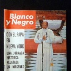 Coleccionismo de Revista Blanco y Negro: REVISTA BLANCO Y NEGRO. Nº 2789, 1965. EL PAPA PABLO VI EN NUEVA YORK, SIMENON. Lote 144140118