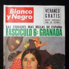 Coleccionismo de Revista Blanco y Negro: REVISTA BLANCO Y NEGRO. Nº 2823, 1966. GRANADA. INDIANÁPOLIS AUTOMOVILISMO, LA LUNA AL ALCANCE DE LA. Lote 144141618