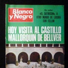 Coleccionismo de Revista Blanco y Negro: REVISTA BLANCO Y NEGRO. Nº 2963, 1969. MURCIA, CASTILLO DE BELLVER MALLORCA, FELLINI. Lote 144143722