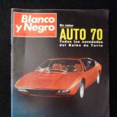 Coleccionismo de Revista Blanco y Negro: REVISTA BLANCO Y NEGRO. Nº 3054, 1970. AUTO 70, CASSIUS CLAY, LA QUINTA DEL BERRO, LA MANCHA. Lote 144144726