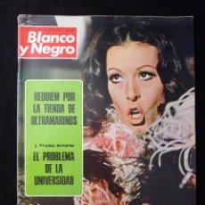Coleccionismo de Revista Blanco y Negro: REVISTA BLANCO Y NEGRO. Nº 3175, 1973. MASSIEL, DROGAS QUE PUEDEN OCASIONAR PSICOSIS. Lote 144145206