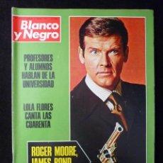 Coleccionismo de Revista Blanco y Negro: REVISTA BLANCO Y NEGRO. Nº 3177, 1973. LOLA FLORES, ROGER MOORE-JAMES BOND, SERRAT, UNION SOVIETICA. Lote 144145390