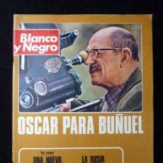 Coleccionismo de Revista Blanco y Negro: REVISTA BLANCO Y NEGRO. Nº 3179, 1973. OSCAR PARA BUÑUEL, MARISOL, SALON AUTOMOVIL BARCELONA. Lote 144145574