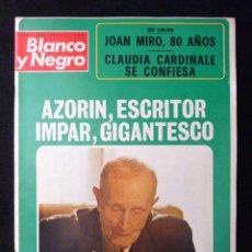 Coleccionismo de Revista Blanco y Negro: REVISTA BLANCO Y NEGRO. Nº 3183, 1973. AZORIN, JOAN MIRO, CLAUDIA CARDINALE, BARCELONA FORMULA 1. Lote 144145838
