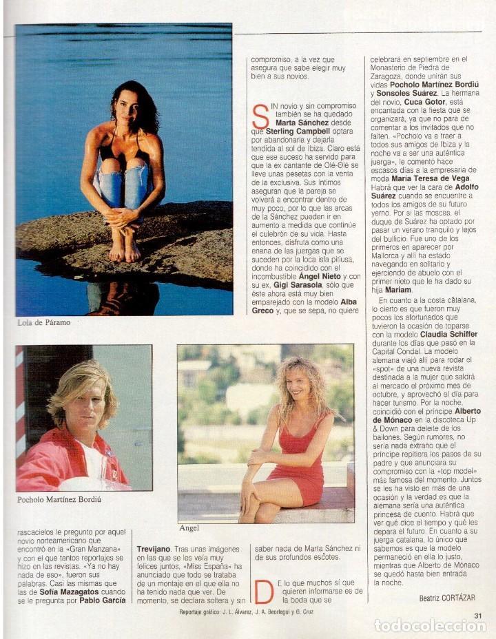 Coleccionismo de Revista Blanco y Negro: 1992. LOLA DE PÁRAMO. ANA ALVAREZ. LADY HELEN WINDSOR. BAKALAO. PERET. MARIBEL VERDÚ. VER SUMARIO. - Foto 3 - 144303270