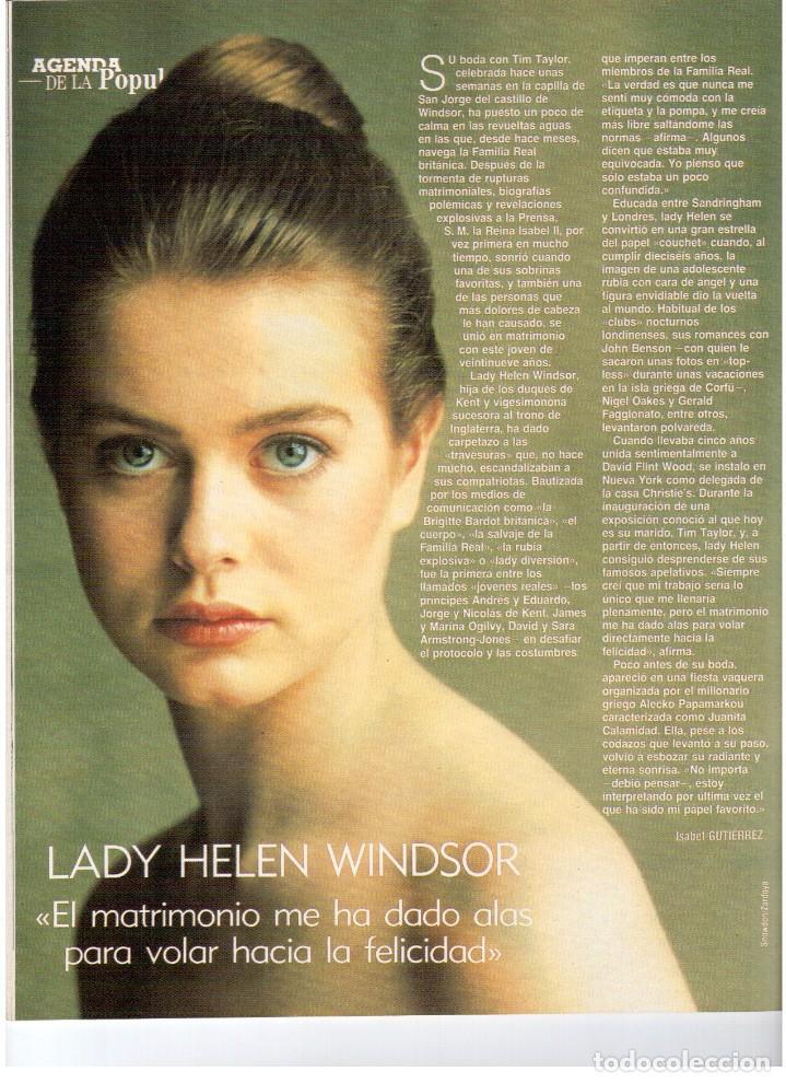 Coleccionismo de Revista Blanco y Negro: 1992. LOLA DE PÁRAMO. ANA ALVAREZ. LADY HELEN WINDSOR. BAKALAO. PERET. MARIBEL VERDÚ. VER SUMARIO. - Foto 5 - 144303270
