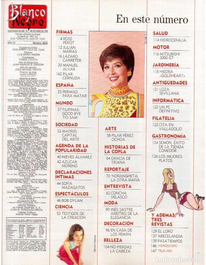 Coleccionismo de Revista Blanco y Negro: 1992. INÉS SASTRE. PALOMA LAGO. MAR FLORES. ELENA BARQUILLA. NIEVES ÁLVAREZ. AZÚCAR MORENO. VER - Foto 2 - 144320502