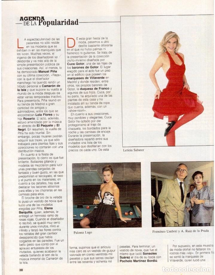 Coleccionismo de Revista Blanco y Negro: 1992. INÉS SASTRE. PALOMA LAGO. MAR FLORES. ELENA BARQUILLA. NIEVES ÁLVAREZ. AZÚCAR MORENO. VER - Foto 4 - 144320502