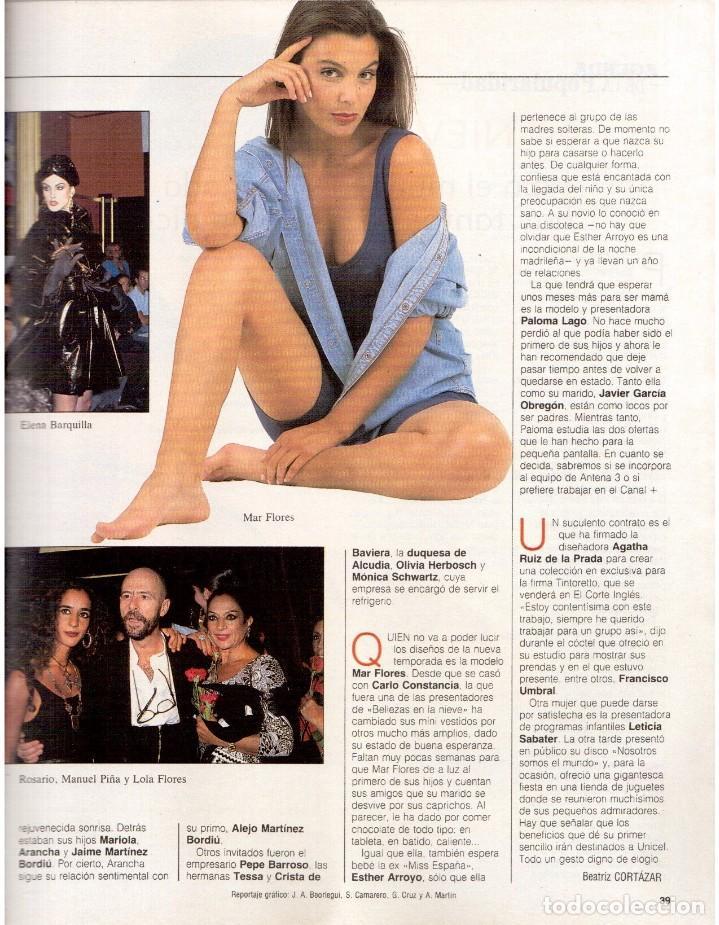 Coleccionismo de Revista Blanco y Negro: 1992. INÉS SASTRE. PALOMA LAGO. MAR FLORES. ELENA BARQUILLA. NIEVES ÁLVAREZ. AZÚCAR MORENO. VER - Foto 5 - 144320502
