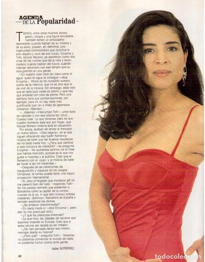 Coleccionismo de Revista Blanco y Negro: 1992. INÉS SASTRE. PALOMA LAGO. MAR FLORES. ELENA BARQUILLA. NIEVES ÁLVAREZ. AZÚCAR MORENO. VER - Foto 7 - 144320502