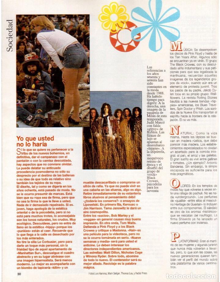 Coleccionismo de Revista Blanco y Negro: 1992. CRISTINA PIAGET. JUDIT MASCÓ. BRACK CROWES. ALASKA. THE CURE. TALGO. MADONNA. VER SUMARIO. - Foto 3 - 144325826