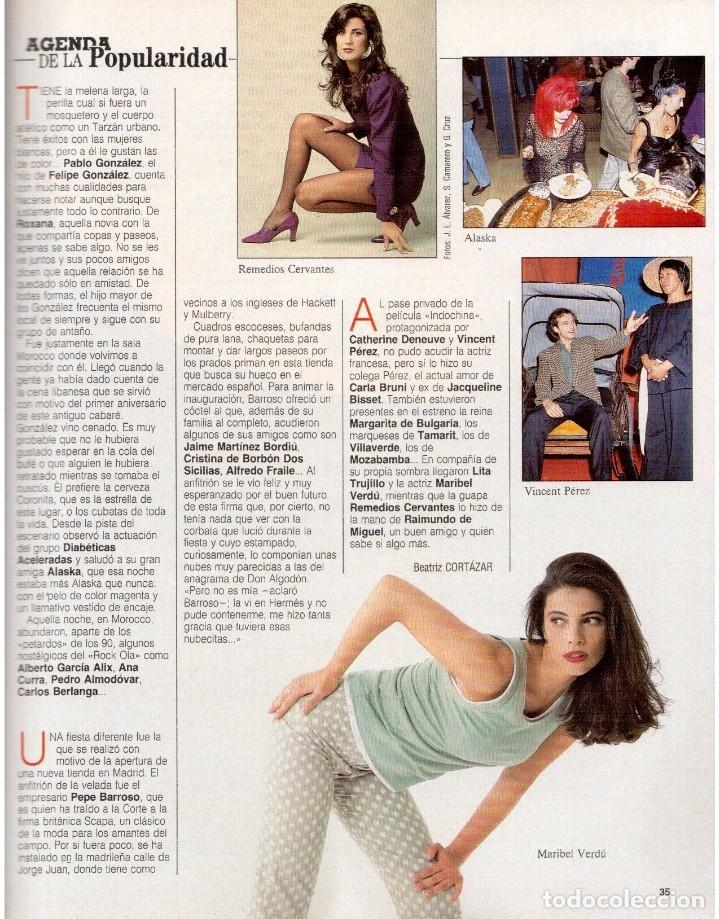 Coleccionismo de Revista Blanco y Negro: 1992. CRISTINA PIAGET. JUDIT MASCÓ. BRACK CROWES. ALASKA. THE CURE. TALGO. MADONNA. VER SUMARIO. - Foto 5 - 144325826